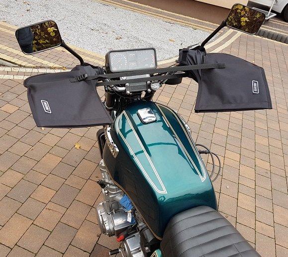 Ocieplacz Kobi mufki Motocykl manetek kierownicy