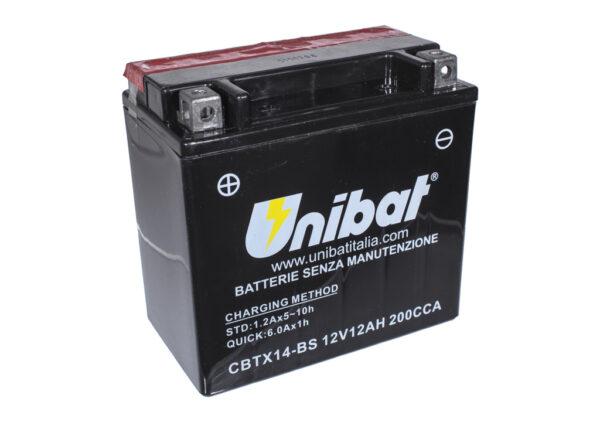 AKUMULATOR UNIBAT 12V 12Ah CBTX14-BS MOTOCYKLOWY