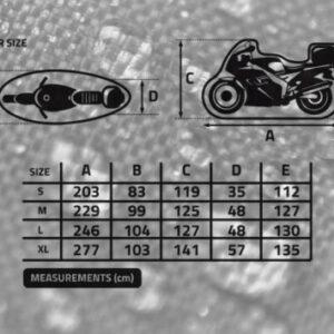 POKROWIEC WODOODPORNY MOTOCYKL Z KUFREM BIKETEC S