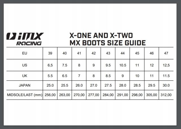 BUTY MOTOCYKLOWE CROSS ENDURO QUAD IMX X-ONE 47