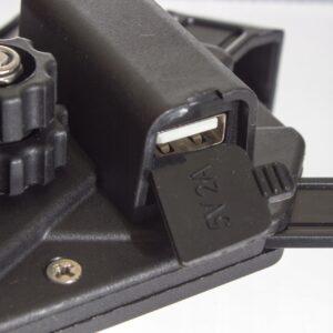 UCHWYT TELEFONU NA KIEROWNICĘ USB MOTOCYKLOWY
