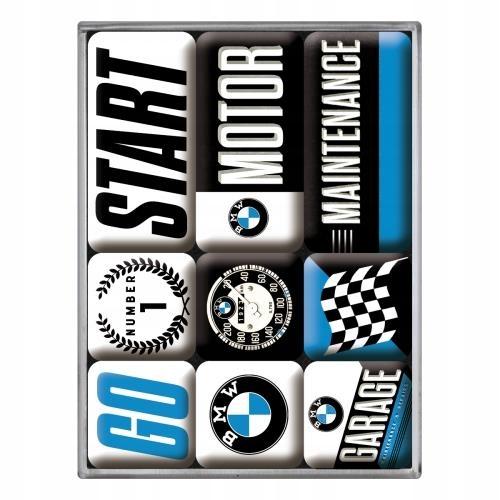 MAGNES 9 szt BMW LOGO PREZENT MOTOCYKLISTY