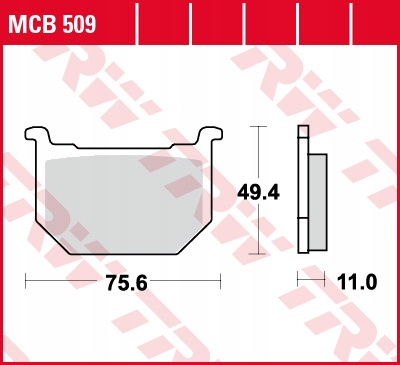Klocki hamulcowe MCB509 Suzuki GN 250 400 GNX GS