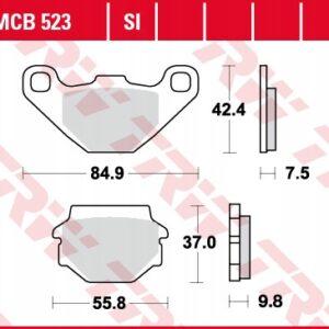 Klocki hamulcowe TRW MCB523 YFM GPZ KLE KMX KX RX