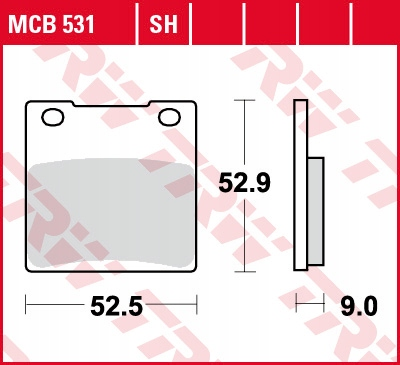 Klocki hamulcowe TRW MCB531SH ZRX ZX-12R ZXR ZZR