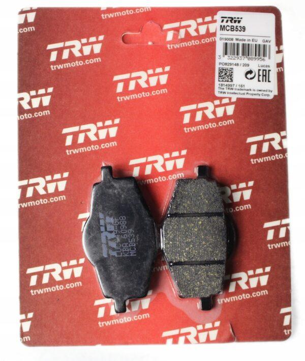 Klocki hamulcowe TRW MCB539 Yamaha TZR TT DT XT