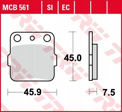 Klocki hamulcowe TRW MCB561SI CR80 TRX 250 KX80R