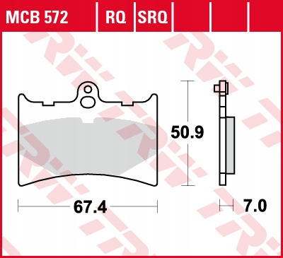 Klocki hamulcowe TRW MCB572 APRILIA RS125 AF1