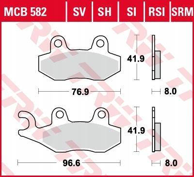 Klocki hamulcowe TRW MCB582 Aprilia SX 50 CAN-AM