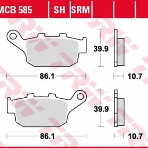 Klocki hamulcowe TRW MCB585 XB-12R CBR NSR XJ6 XRV