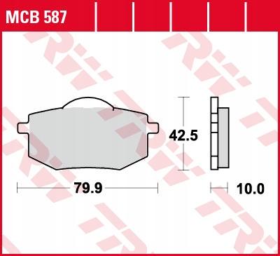Klocki hamulcowe TRW MCB587 XV 535 VIRAGO