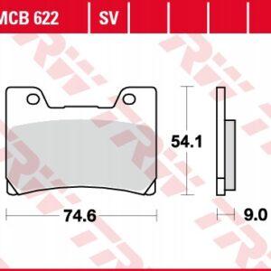 Klocki hamulcowe TRW MCB622 YAMAHA FZR GENESIS VMX