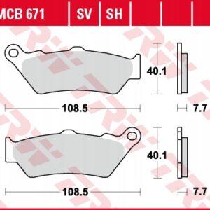 Klocki hamulcowe TRW MCB671 BMW GS K DIAVEL ROCKET