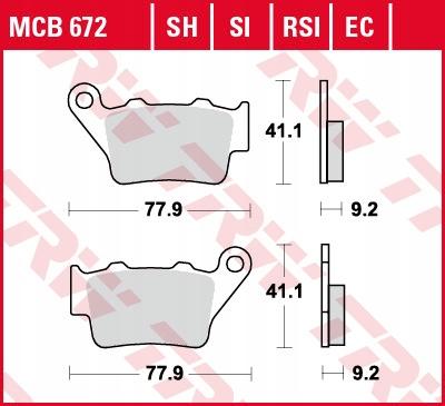 Klocki hamulcowe TRW MCB672 PEGASO BMW GS DUKE
