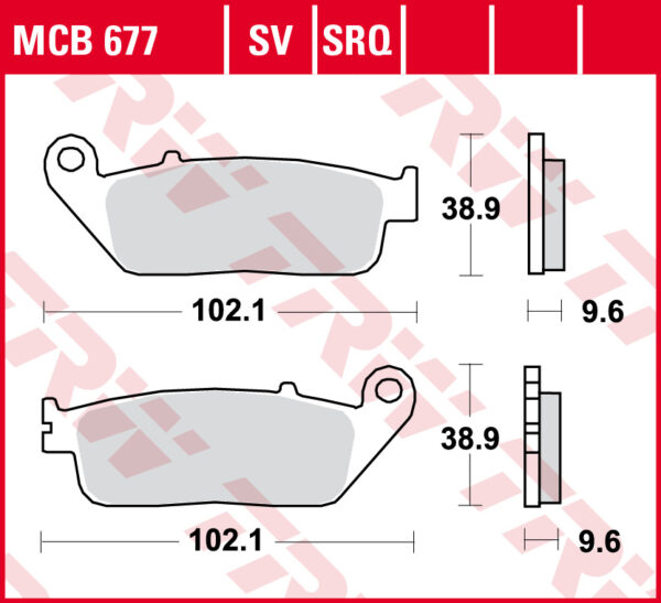Klocki hamulcowe TRW MCB677 HONDA CMX CBR CTX NT