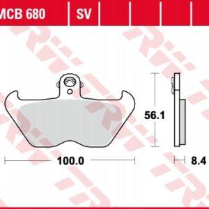 Klocki hamulcowe TRW MCB680 BMW 1000R 850 1200K GS