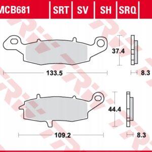 Klocki hamulcowe TRW MCB681SV KAWASAKI ER-6 KLE VN