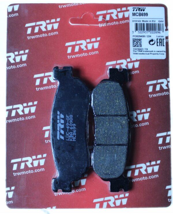 Klocki hamulcowe TRW MCB699 ITALJET JUPITER TW 125