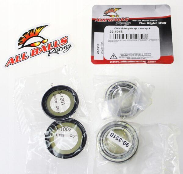 ALL BALLS łożyska główki ramy 22-1018 CR 125 XR650