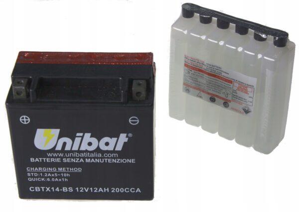 Akumulator UNIBAT CBTX14-BS BMW XRF GSX SV XJR YFM