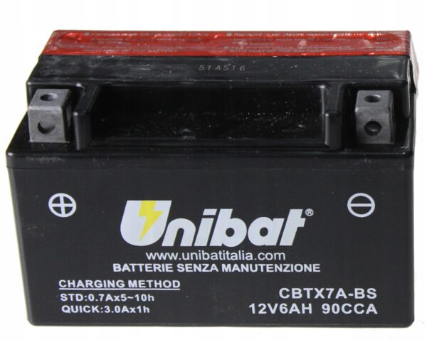 Akumulator UNIBAT CBTX7A-BS AGM FIGHTER BT XRV 125