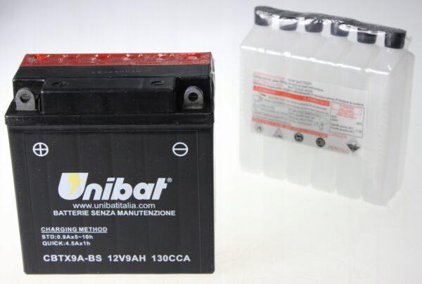 Akumulator UNIBAT CBTX9A-BS 12V 9Ah