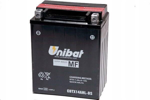 Akumulator UNIBAT CBTX14AHL-BS CB 750 C1 GPZ X9