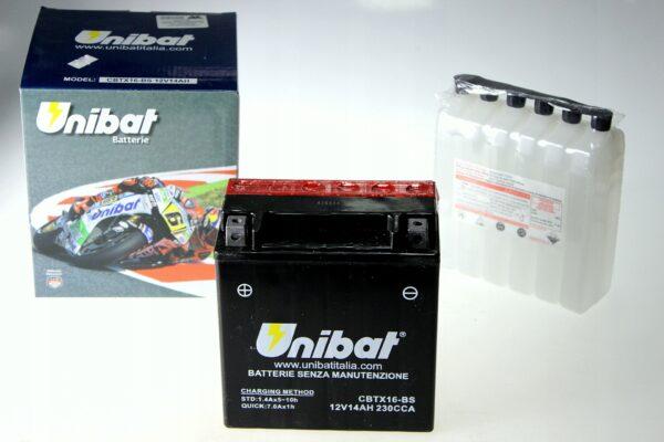 Akumulator UNIBAT CBTX16-BS VN 1700 VLR VZR TIGER