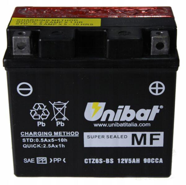 Akumulator UNIBAT CTZ6S-BS CBR 125 DT TW XVS DRAG