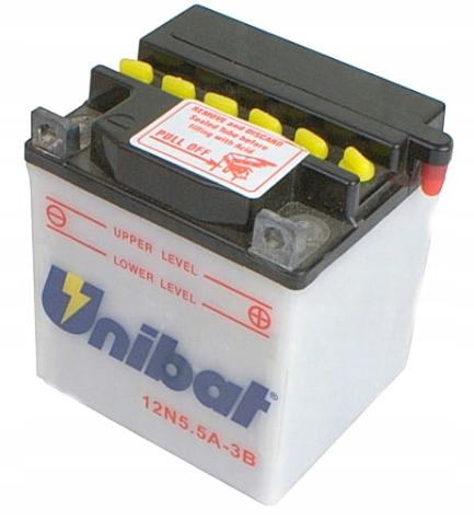 Akumulator UNIBAT 12N5.5A-3B DS7 AN90B R5 RD 125 –