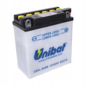 Akumulator UNIBAT CB5L-B ETZ 125 251 301 SAXON SV