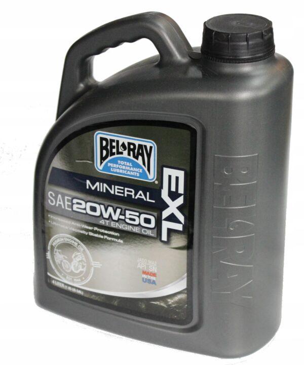 Olej Bel-Ray MINERALNY — 20W-50 — EXL — 4T 4L