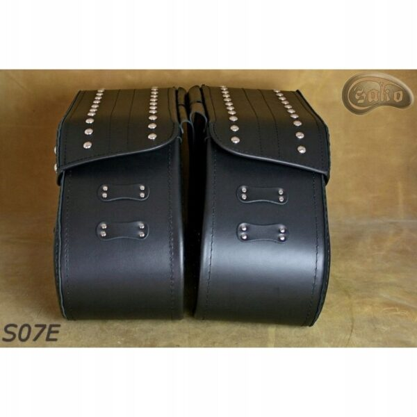Sakwy komplet CHOPPER SAKO S7 B 2 PASKI Z NITAMI