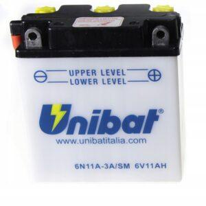 Akumulator UNIBAT 6N11A-3A MZ WSK SHL JAWA 6V