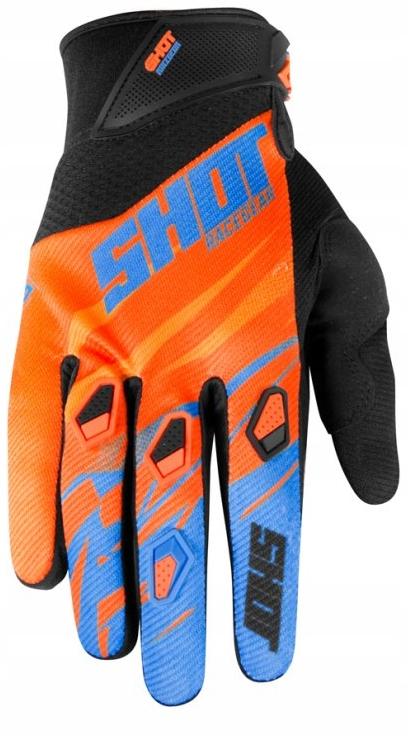 Rękawice SHOT Race Cross 2020 orange blue roz. XL