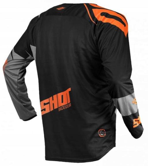 Strój SHOT GRAY NEON ORANGE Koszulka M Spodnie L