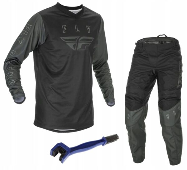 STRÓJ FLY Koszulka + Spodnie CROSS ATV 2021 CZARNY