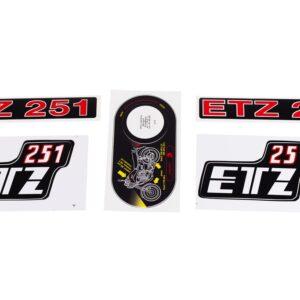 Naklejki na zbiornik boczki lagi kpl MZ ETZ 251