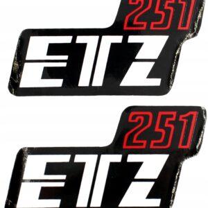 Naklejki nalepki boczki MZ ETZ 251 kpl. 2 szt.