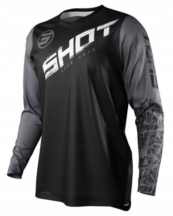 Koszulka SHOT 2021 CROSS ENDURO DEVO SLAM GREY M